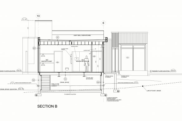 house section by architect